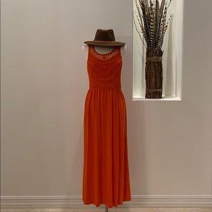 {Xhilaration} Crochet Maxi Dress